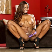 Tori Taylor poses and plays with dildo